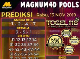 Prediksi Togel Magnum4d 13 November 2019