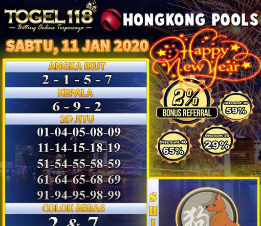 prediksi togel hongkong 11 januari 2020