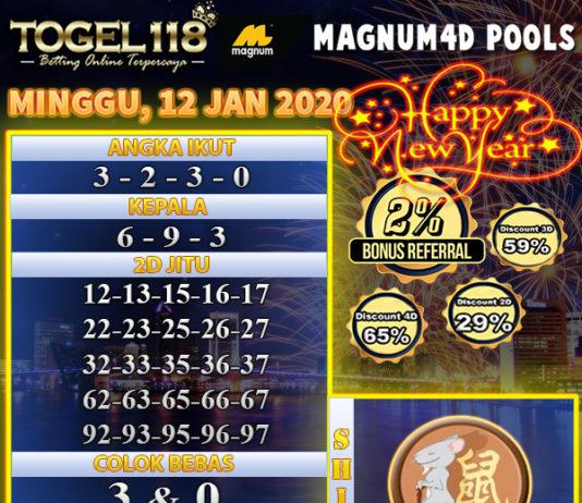 prediksi togel magnum4d 12 januari 2020