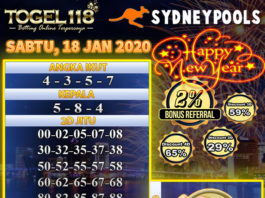 prediksi togel sydney 18 januari 2020