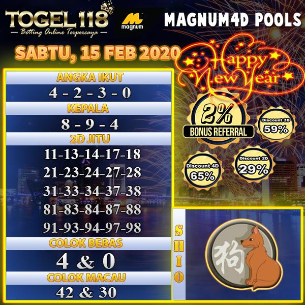 Prediksi Togel magnum4d 15 februari 2020