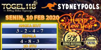Prediksi Togel Sydney 10 Februari 2020