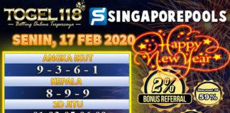 Prediksi Togel singapore 17 februari 2020