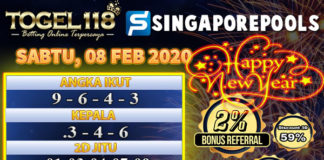 Prediksi Togel Singapore 07 Februari 2020