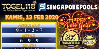 Prediksi Togel singapore 13 Februari 2020
