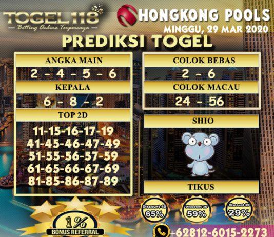 prediksi togel hongkong 29 maret 2020