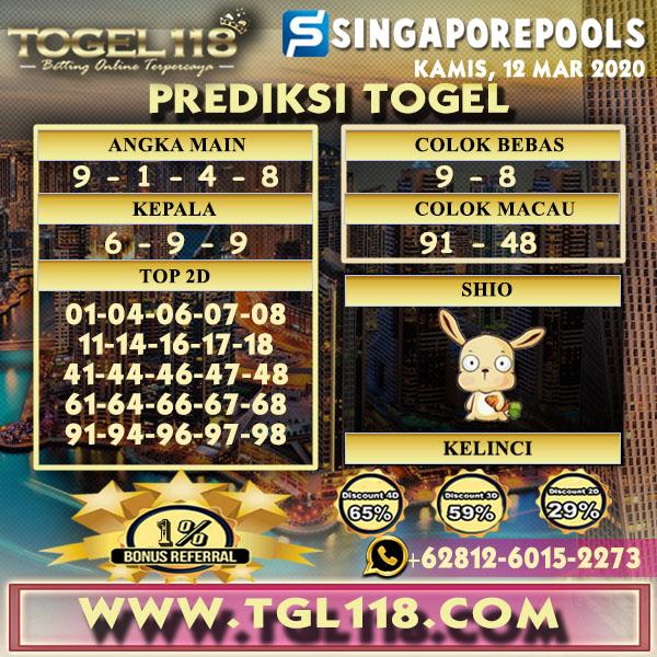 Prediksi Togel singapore 12 Maret 2020