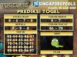 Prediksi Togel singapore 26 maret 2020