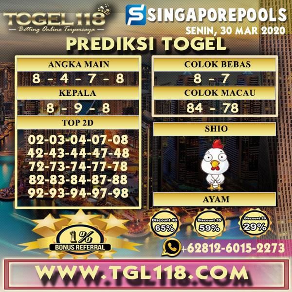 Prediksi Togel singapore 30 Maret 2020