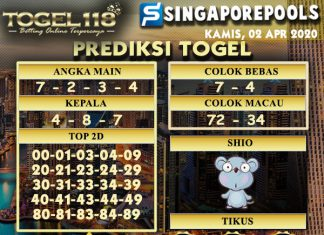 Prediksi Togel singapore 02 maret 2020