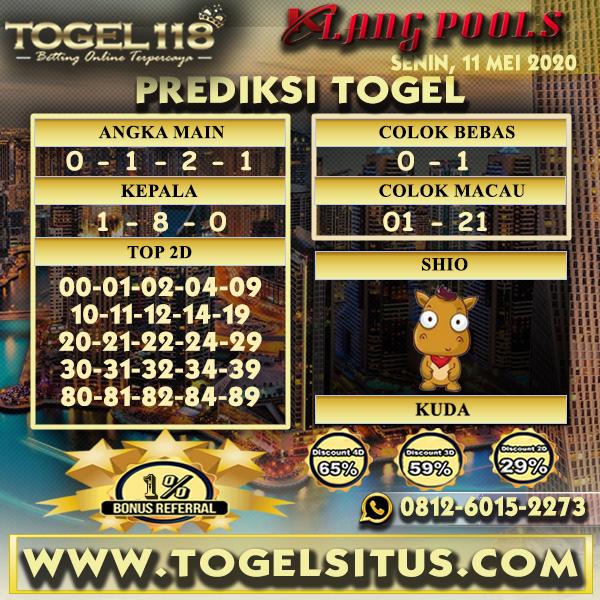 Prediksi Togel Klang 11 Mei 2020