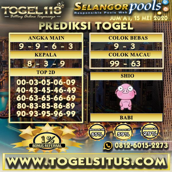 Prediksi Togel Selangor 15 mei 2020