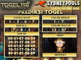 Prediksi Togel Sydney 06 Juni 2020