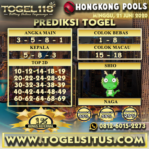 PREDIKSI TOGEL HONGKONG 21 JUNI 2020