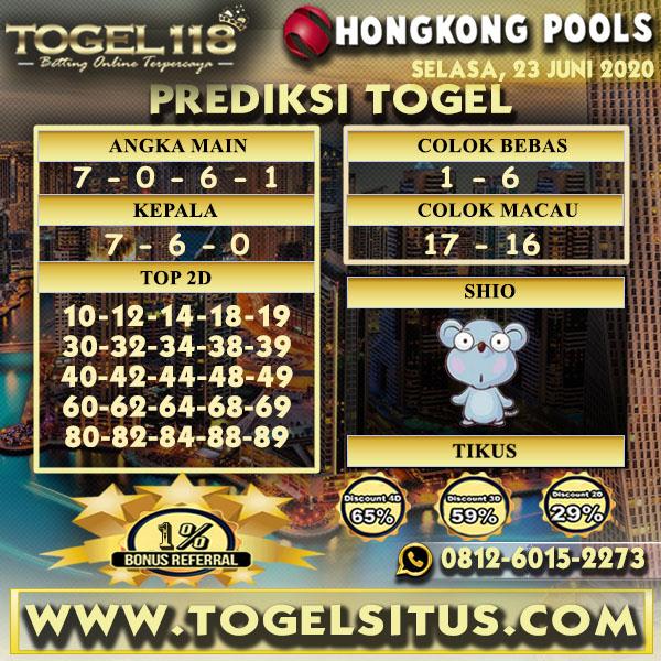 PREDIKSI TOGEL118 HONGKONG 23 JUNI 2020