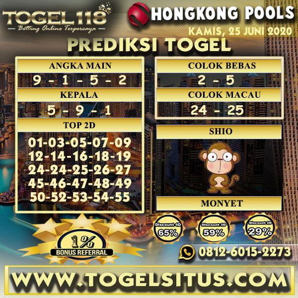 PREDIKSI TOGEL118 HONGKONG 25 JUNI 2020