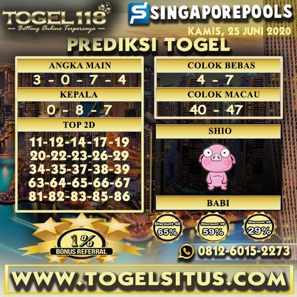 PREDIKSI TOGEL118 SINGAPORE 25 JUNI 2020