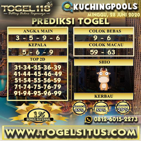 Prediksi Togel Kuching 28 Juni 2020