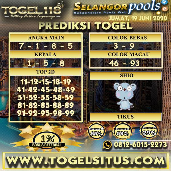 Prediksi Togel Selangor 19 juni 2020