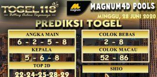 prediksi Togel Magnum4D 28 Juni 2020