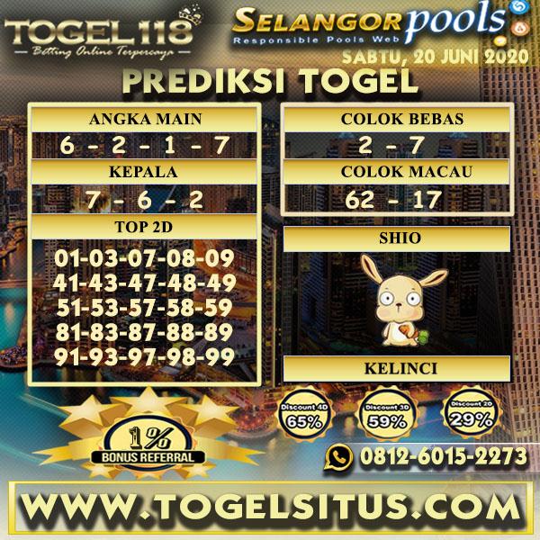 prediksi Togel Selangor 20 Juni 2020