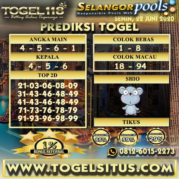 prediksi Togel Selangor 22 Juni 2020
