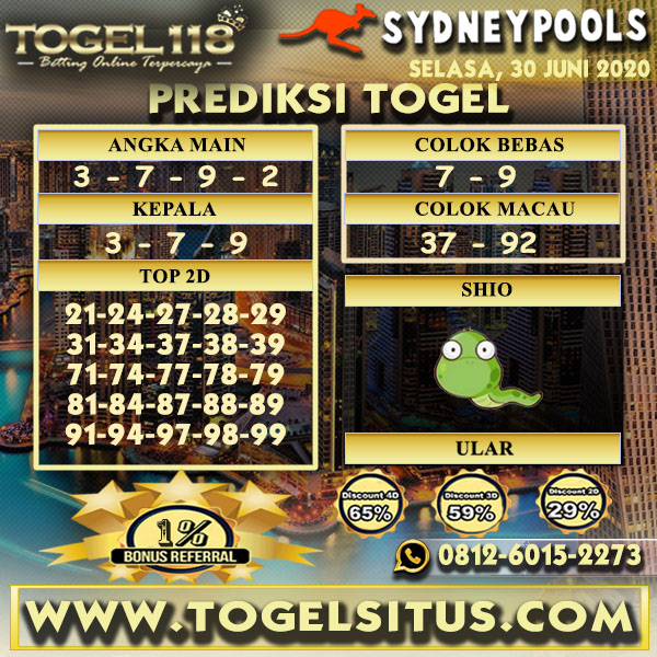 prediksi Togel Sydney 30 juni 2020