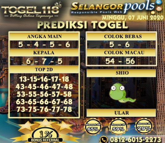 Prediksi Togel Selangor 07 Juni 2020