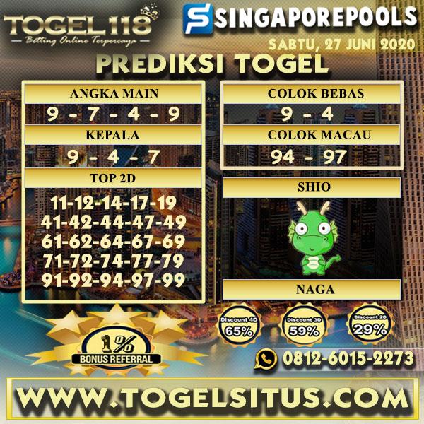prediksi togel singapore 27 juni 2020