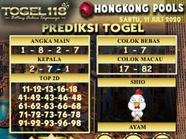 prediksi Togel Hongkong 11 Juli 2020