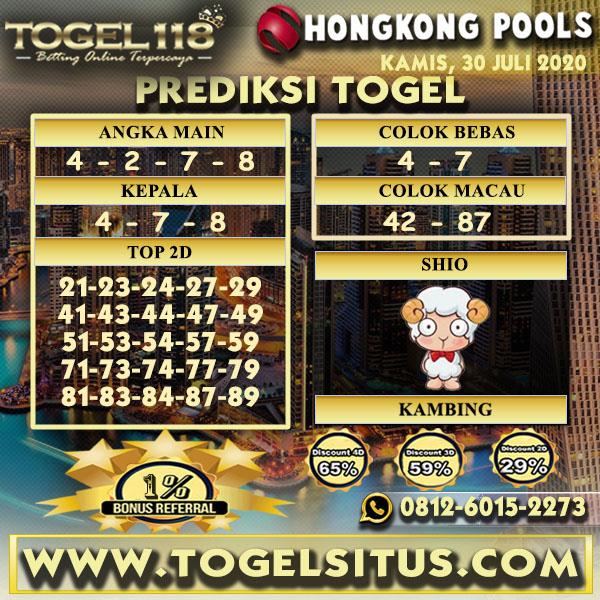 prediksi Togel Hongkong 30 Juli 2020