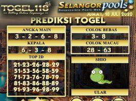 prediksi Togel Selangor 10 juli 2020
