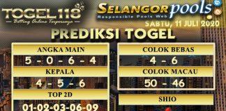 prediksi Togel Selangor 11 Juli 2020