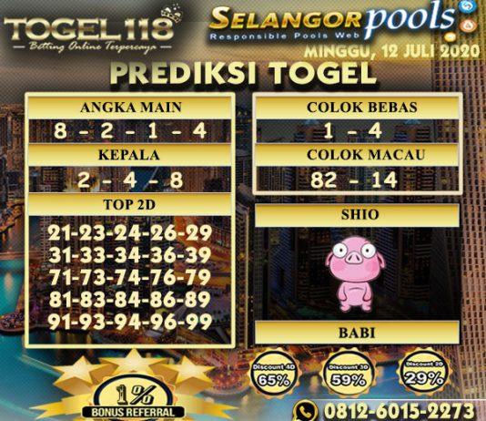 prediksi Togel Selangor 12 Juli 2020