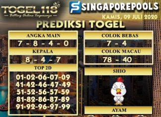 prediksi Togel Singapore 09 Juli 2020