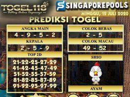 prediksi Togel Singapore 12 Juli 2020