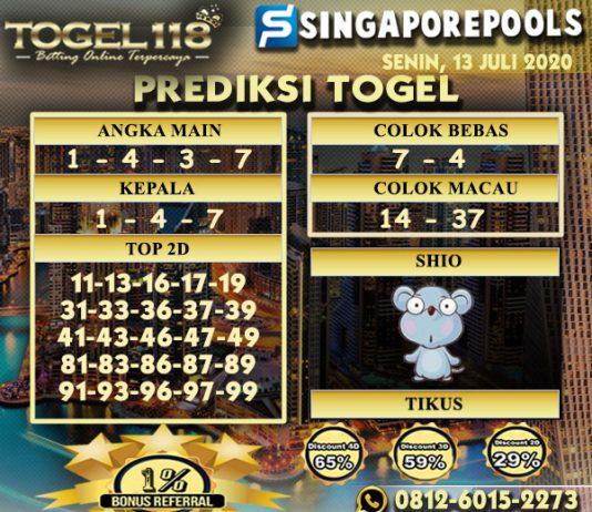 prediksi Togel Singapore 13 Juli 2020