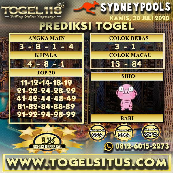 prediksi Togel Sydney 30 Juli 2020