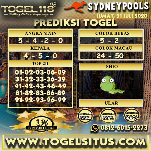 prediksi Togel Sydney 31 Juli 2020