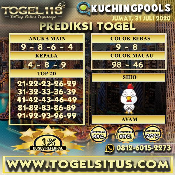 prediksi togel Kuching 31 juli 2020