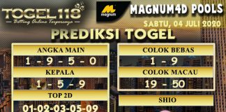 prediksi togel Magnum4D 04 Juli 2020