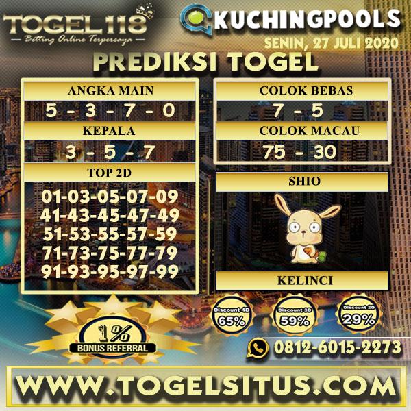 prediksi Togel Kuching 27 Juli 2020
