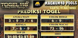 prediksiTogel Magnum4D 11 juli 2020