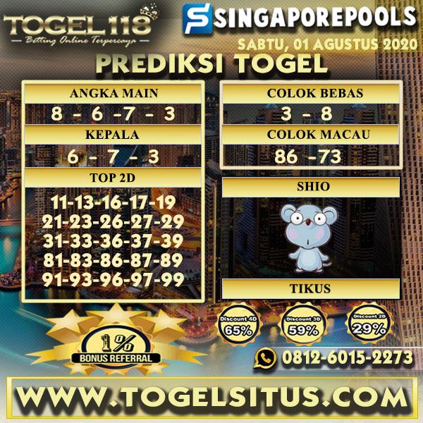 prediksi Togel Singapore 01 Agustus 2020