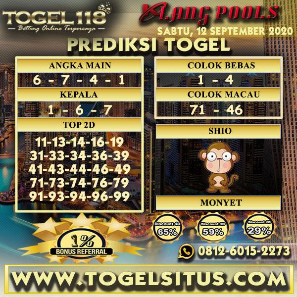 prediksi Togel Klang 12 September 2020