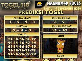 prediksi Togel Magnum4D 19 September 2020