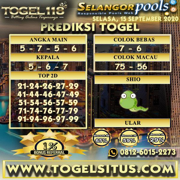 prediksi Togel Selangor 15 September 2020