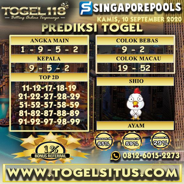 prediksi Togel Singapore 10 September 2020