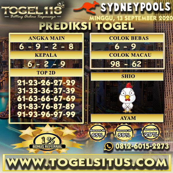 prediksi Togel Sydney 13 September 2020