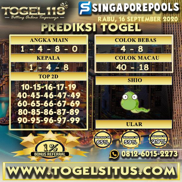 prediksi Togel singapore 16 September 2020